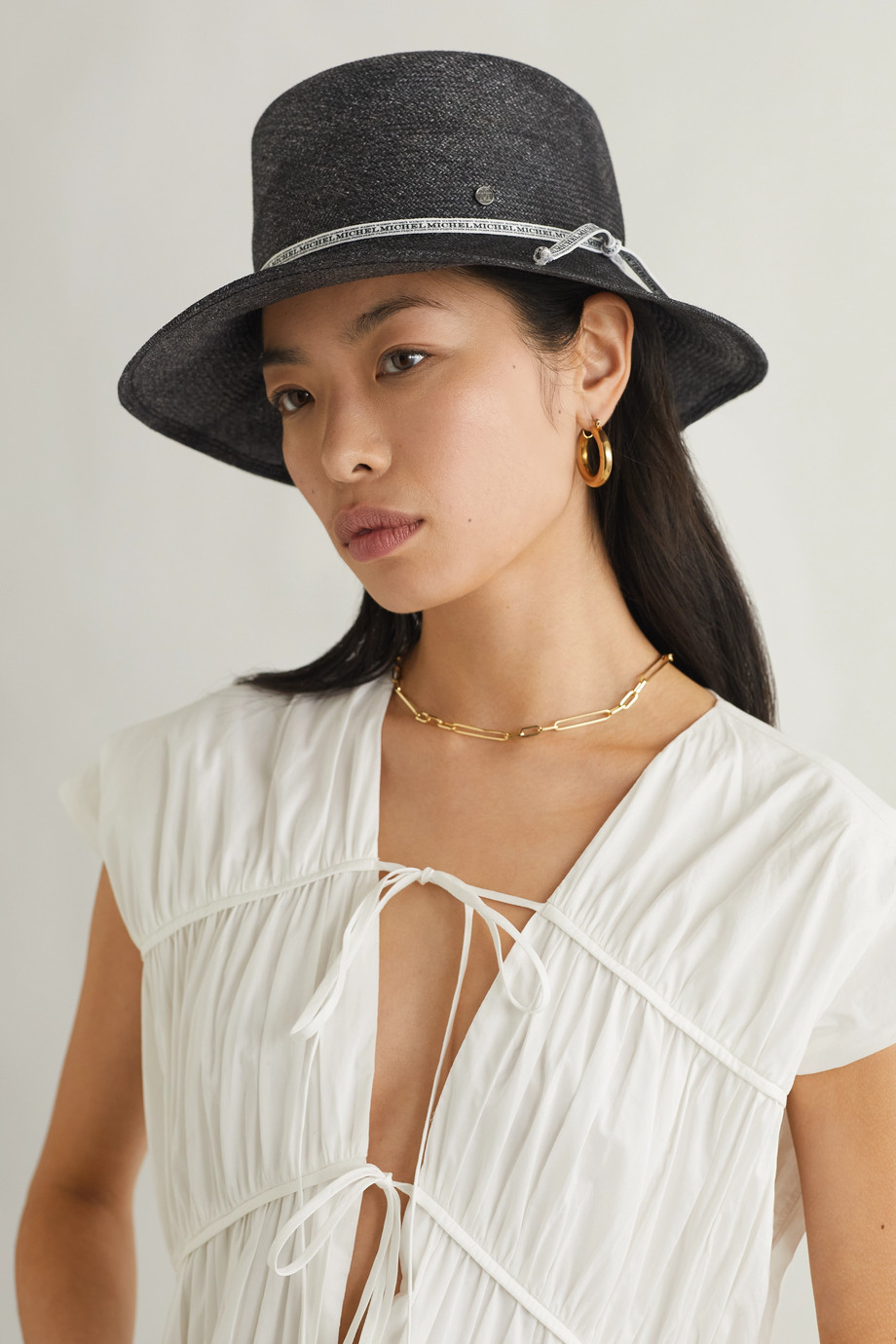 Maison Michel Kendall straw hat