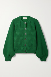 The Great The Sophomore jacquard-knit cotton-blend cardigan