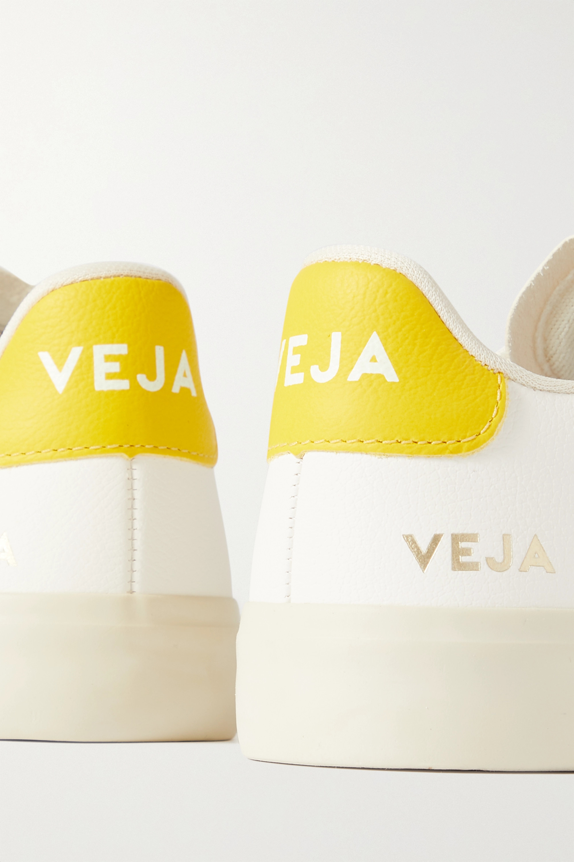 Veja + NET SUSTAIN Campo suede-trimmed leather sneakers