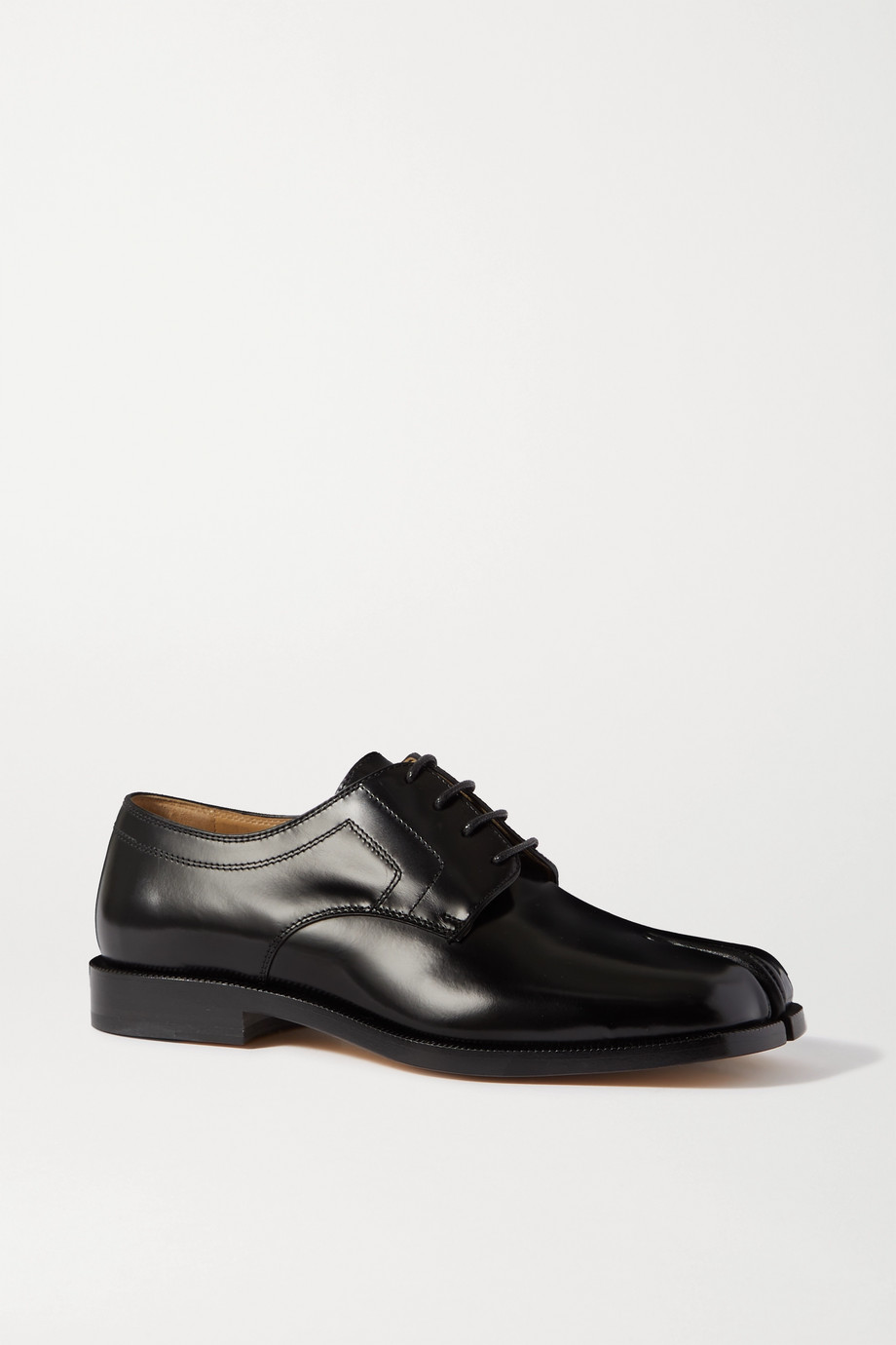 Maison Margiela Tabi split-toe glossed-leather brogues