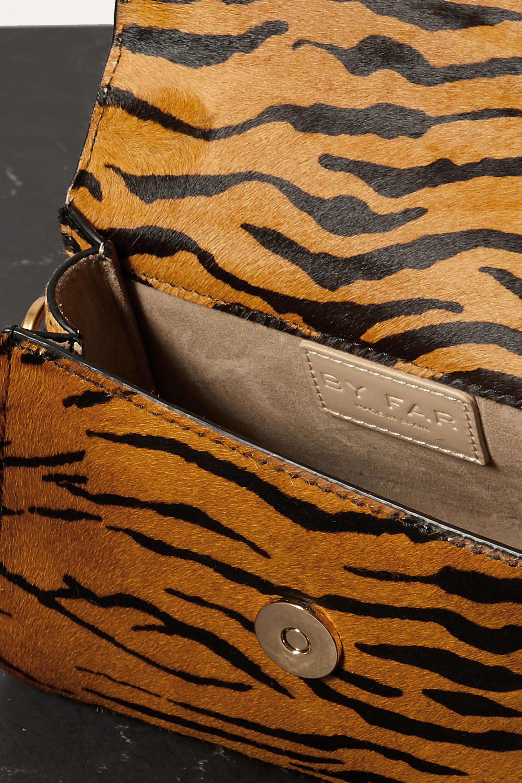 BY FAR Mini tiger-print calf hair tote