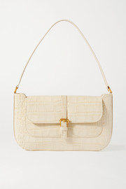 BY FAR Miranda croc-effect leather shoulder bag