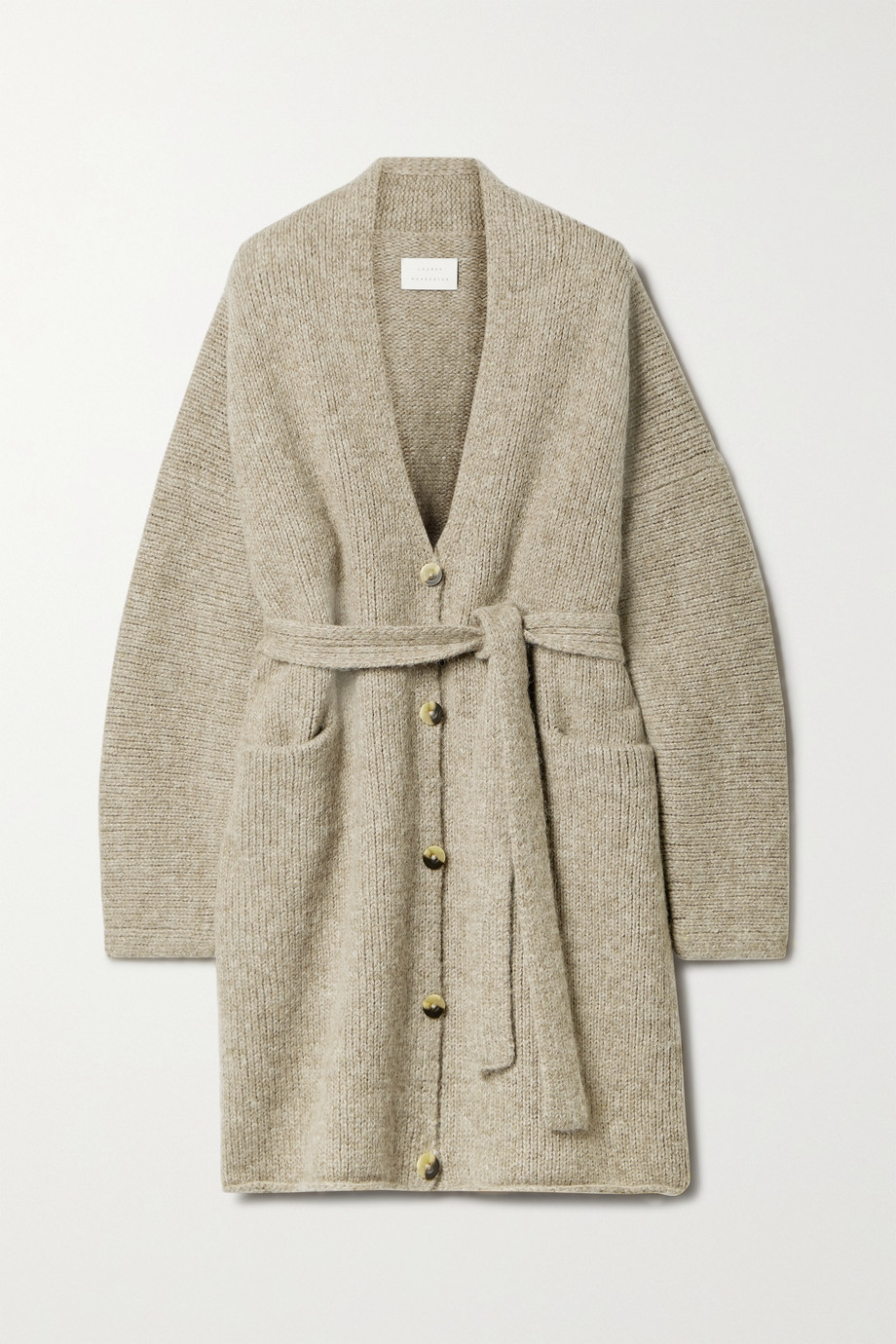 Lauren Manoogian Belted knitted cardigan