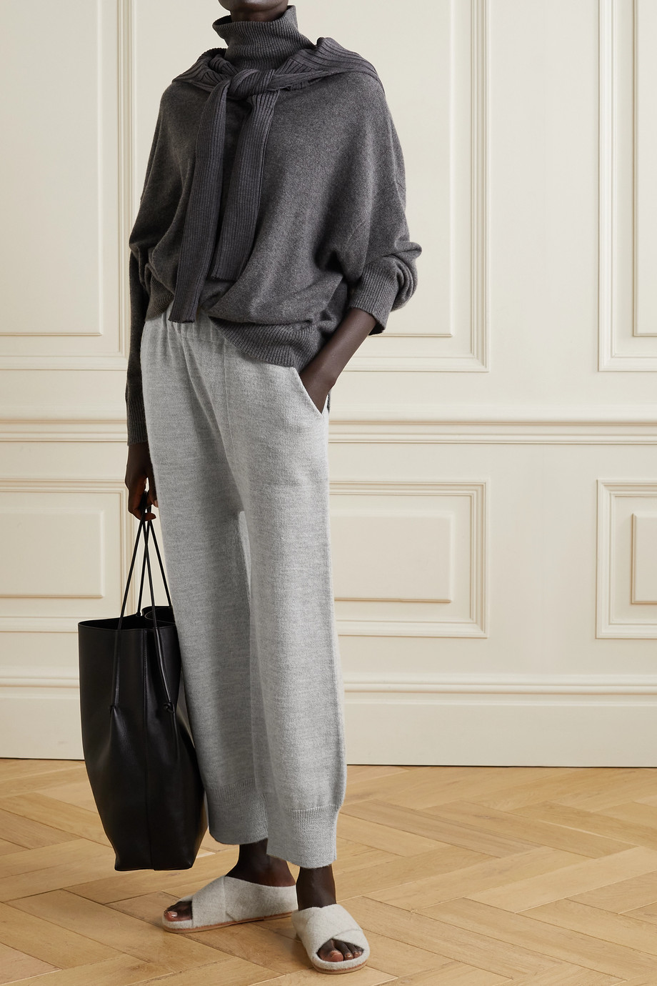 Lauren Manoogian Arch alpaca and wool-blend track pants