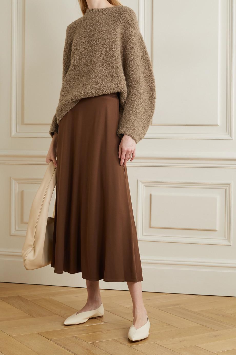 Lauren Manoogian Astrakhan Pullover aus Bouclé aus einer Alpakawoll-Wollmischung