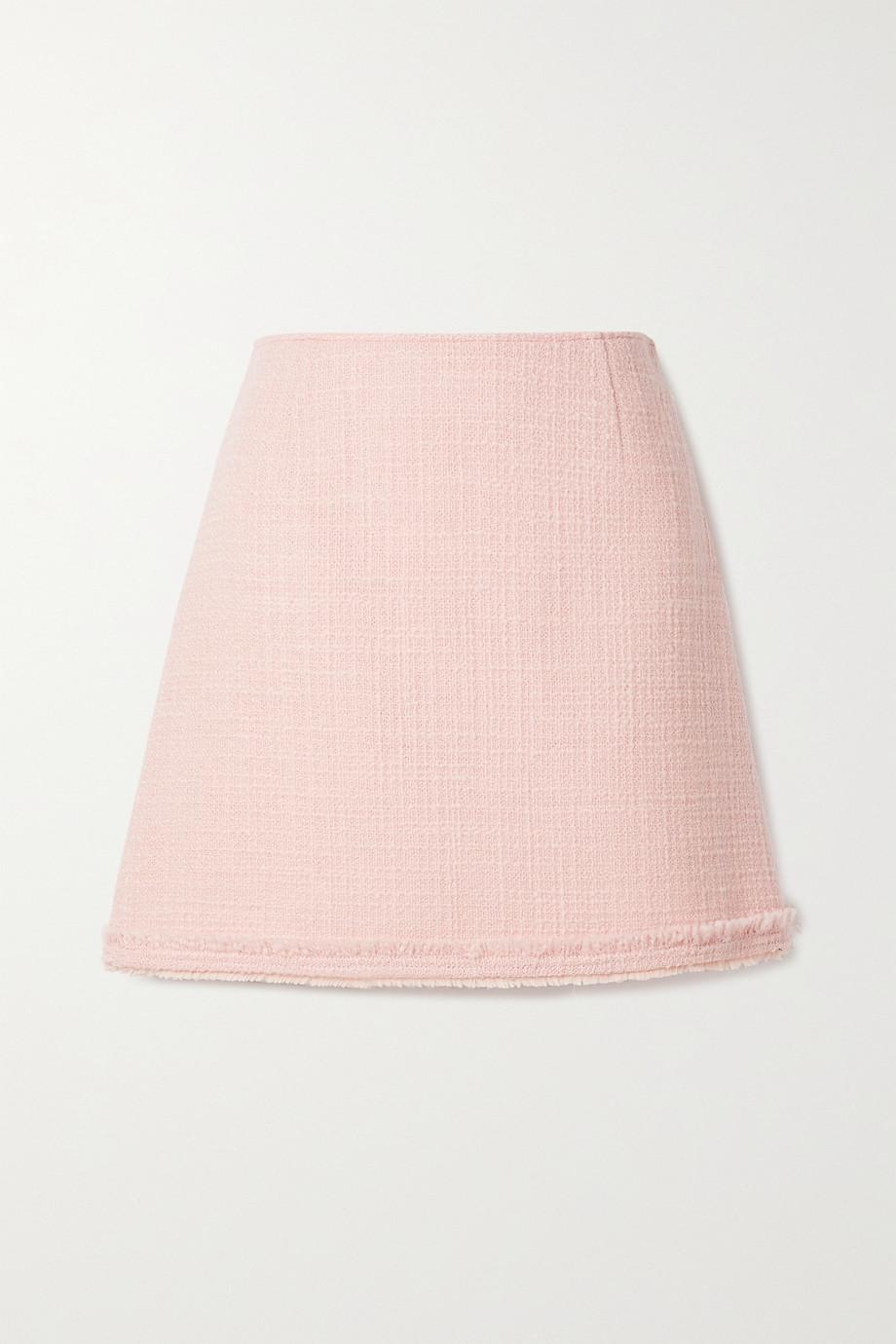 Tory Burch Frayed wool-blend tweed mini skirt