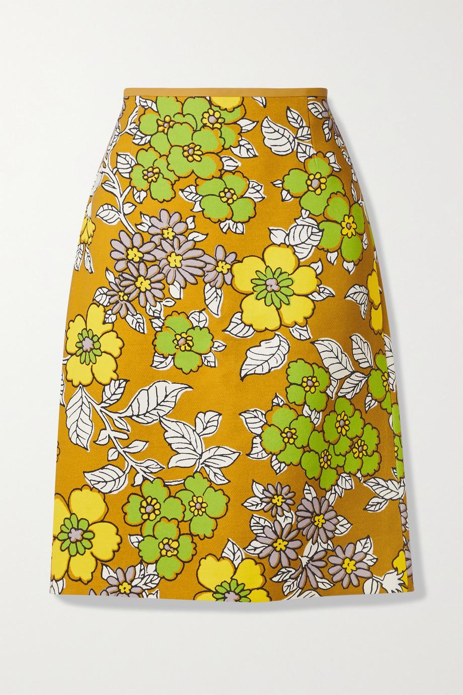Tory Burch Floral-print woven skirt