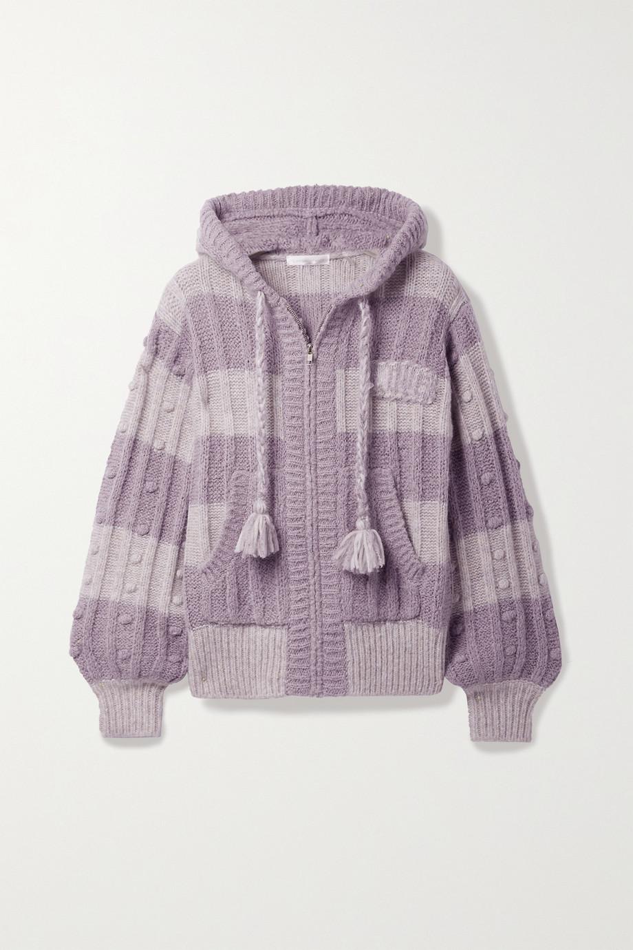 LoveShackFancy Tirzah striped knitted hoodie
