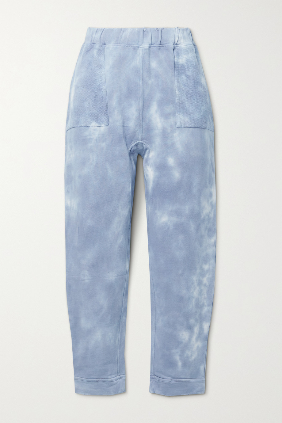 LoveShackFancy Blex distressed paneled tie-dyed cotton-jersey track pants