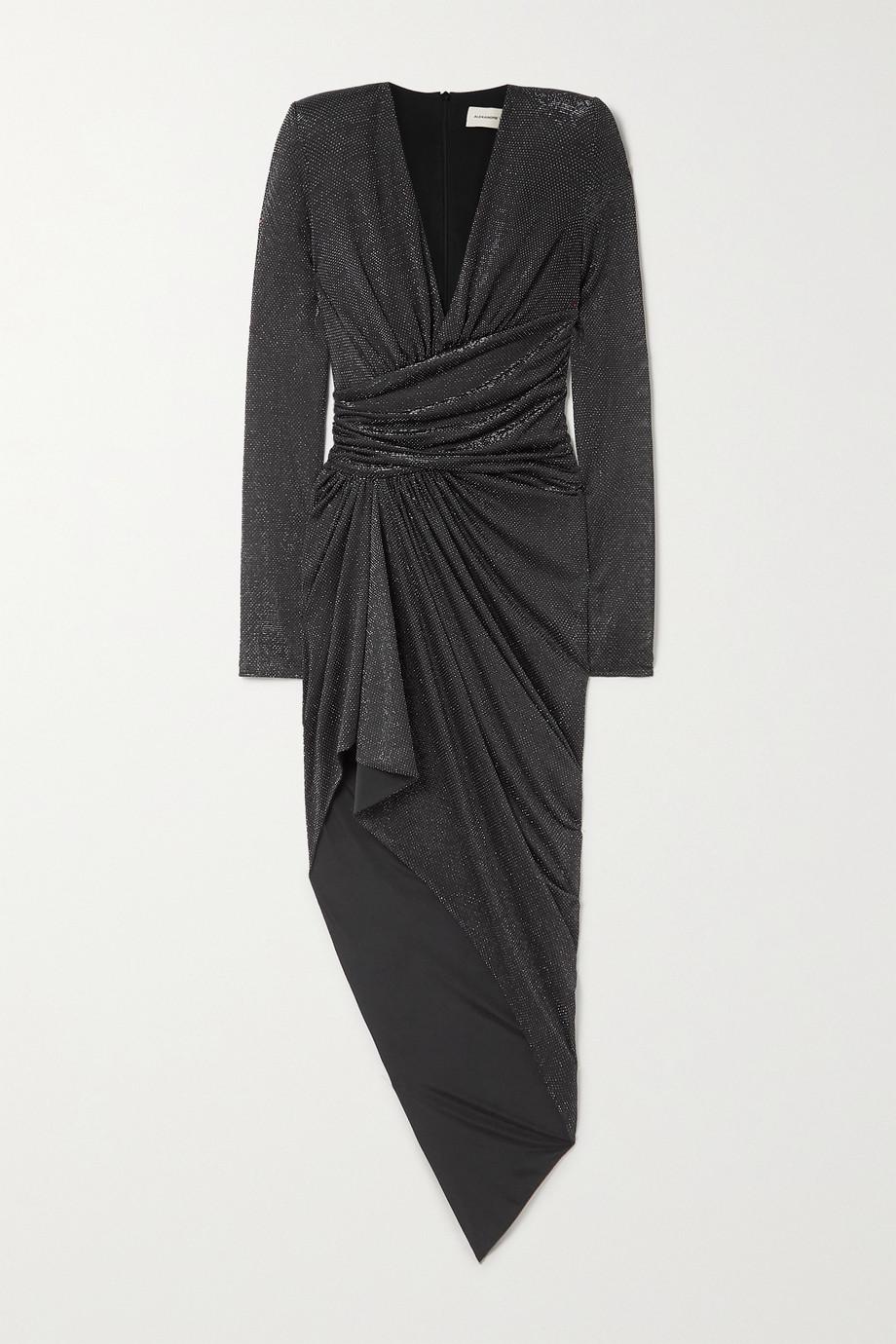 Alexandre Vauthier Asymmetric gathered stretch-Lurex dress