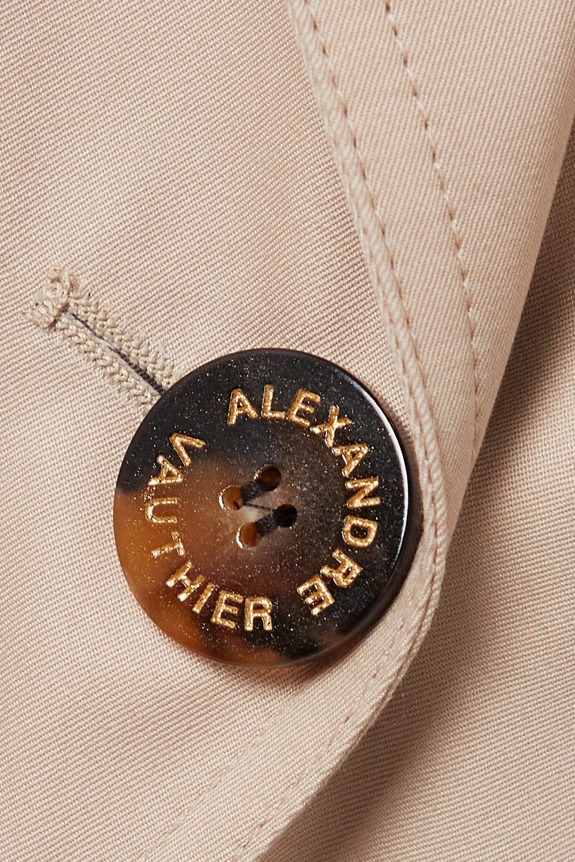 Alexandre Vauthier Cotton-gabardine trench coat