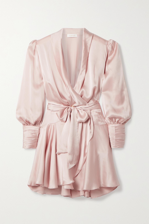 Zimmermann Silk-satin wrap mini dress