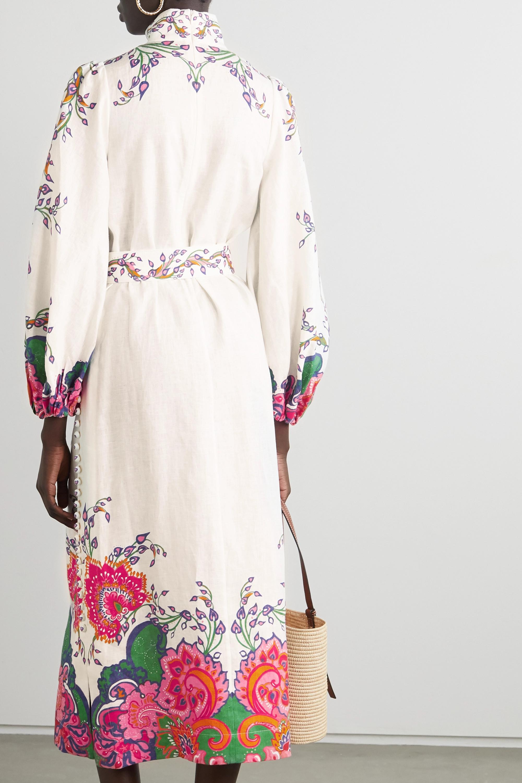 Zimmermann The Lovestruck belted paisley-print linen midi dress