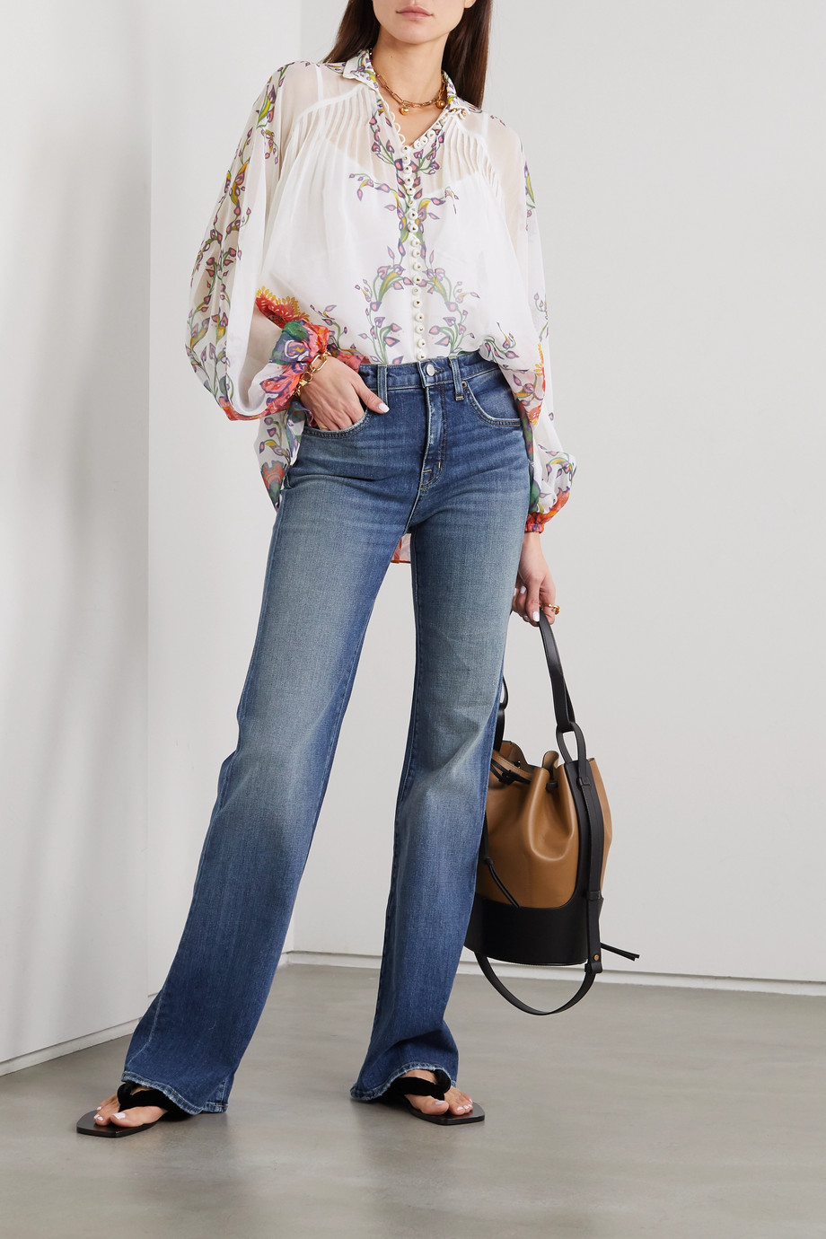 Zimmermann The Lovestruck printed cotton and silk-blend georgette blouse