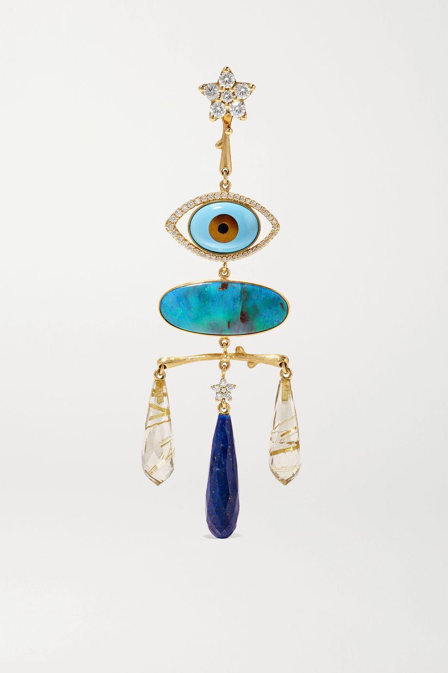 OLE LYNGGAARD COPENHAGEN Shooting Stars 18-karat gold multi-stone earring