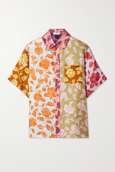 Zimmermann THE LOVESTRUCK FLORAL-PRINT SILK-TWILL SHIRT