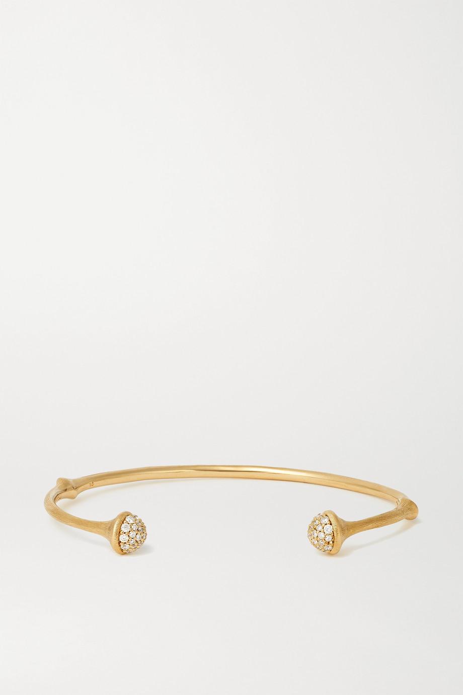 OLE LYNGGAARD COPENHAGEN Nature 18-karat gold diamond cuff