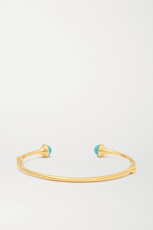 OLE LYNGGAARD COPENHAGEN Nature 18-karat gold turquoise cuff