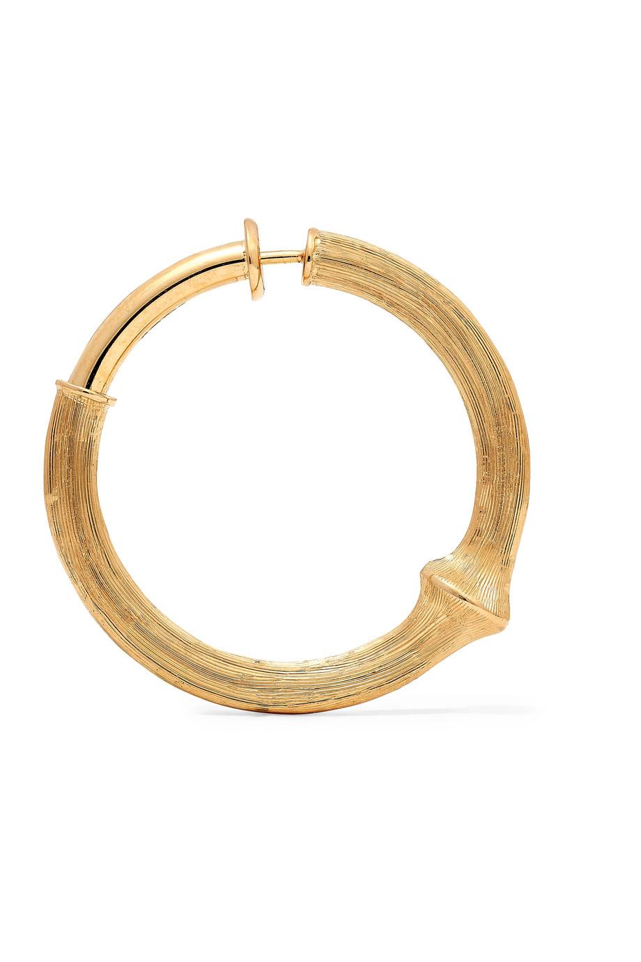 OLE LYNGGAARD COPENHAGEN Nature large 18-karat gold hoop earring