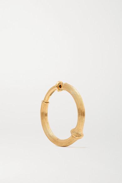 Ole Lynggaard Copenhagen Earrings NATURE LARGE 18-KARAT GOLD HOOP EARRING