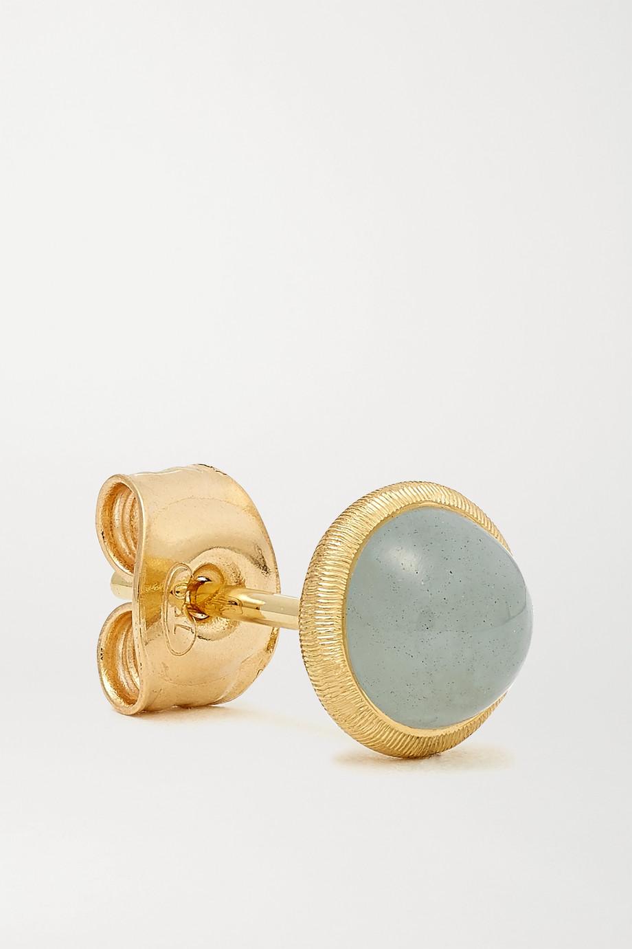 OLE LYNGGAARD COPENHAGEN Lotus 18-karat gold aquamarine earrings