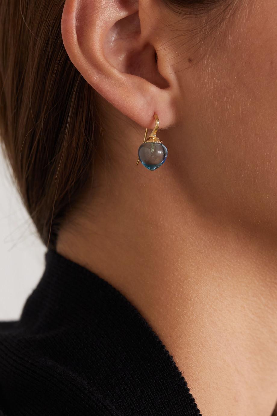 OLE LYNGGAARD COPENHAGEN Dew Drops 18-karat gold topaz earrings