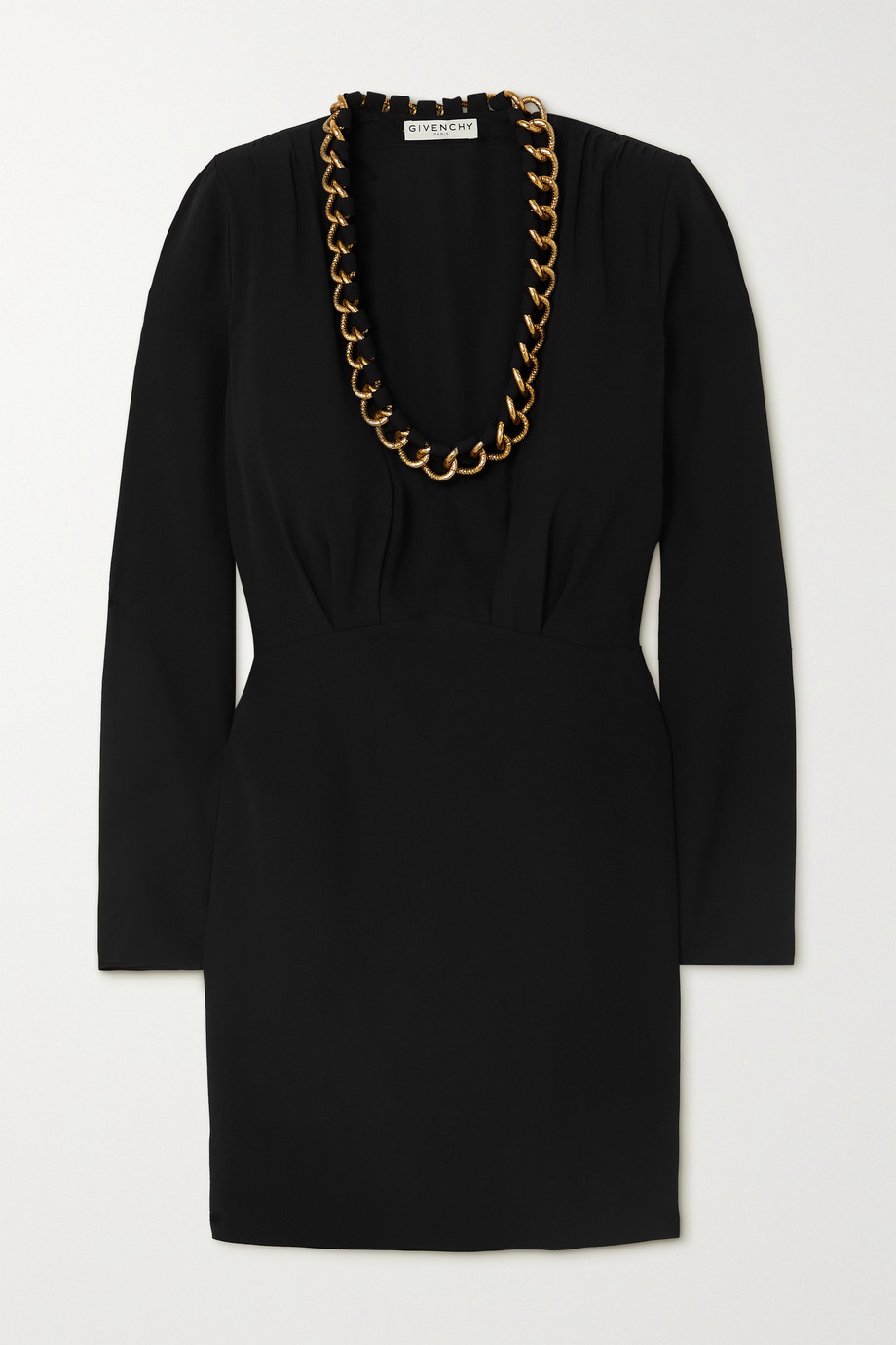 Givenchy Chain-embellished crepe mini dress