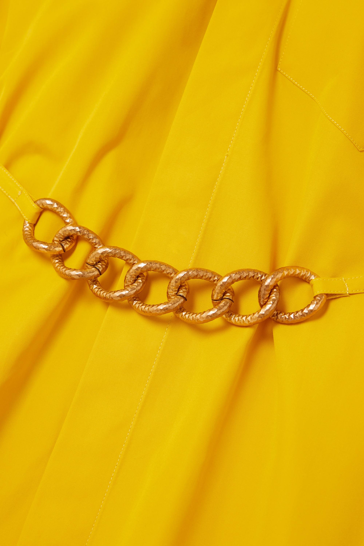 Givenchy Robe-chemise en popeline de coton à chaîne