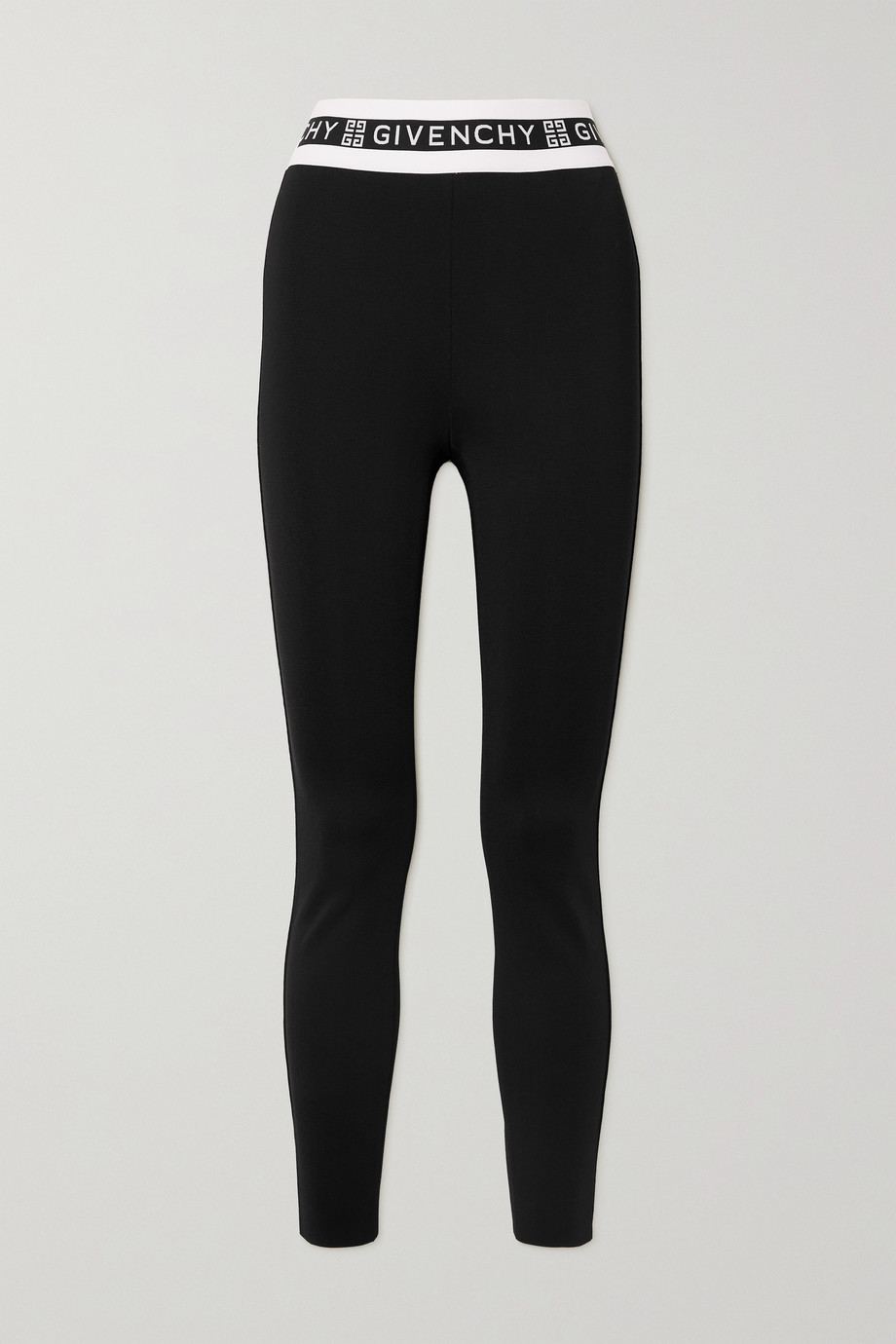 Givenchy Jacquard-trimmed jersey leggings