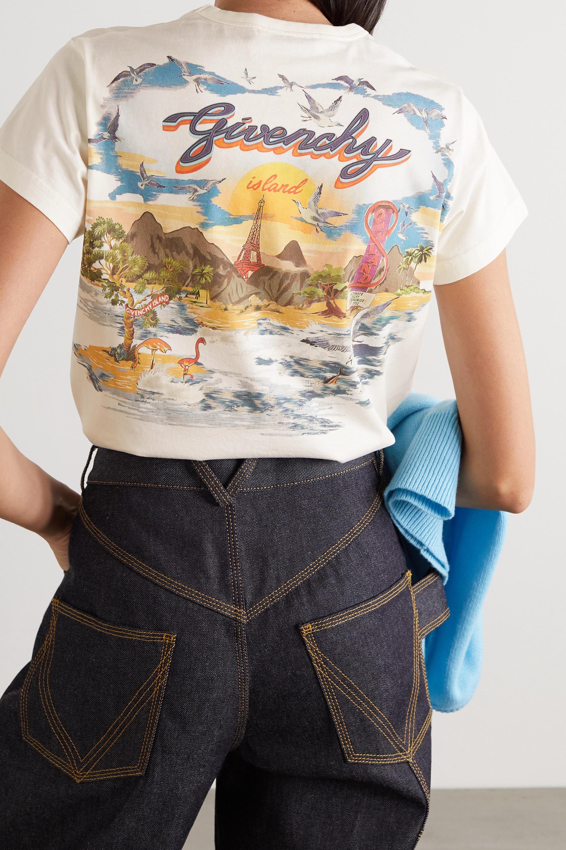 Givenchy T-shirt en jersey de coton imprimé Island