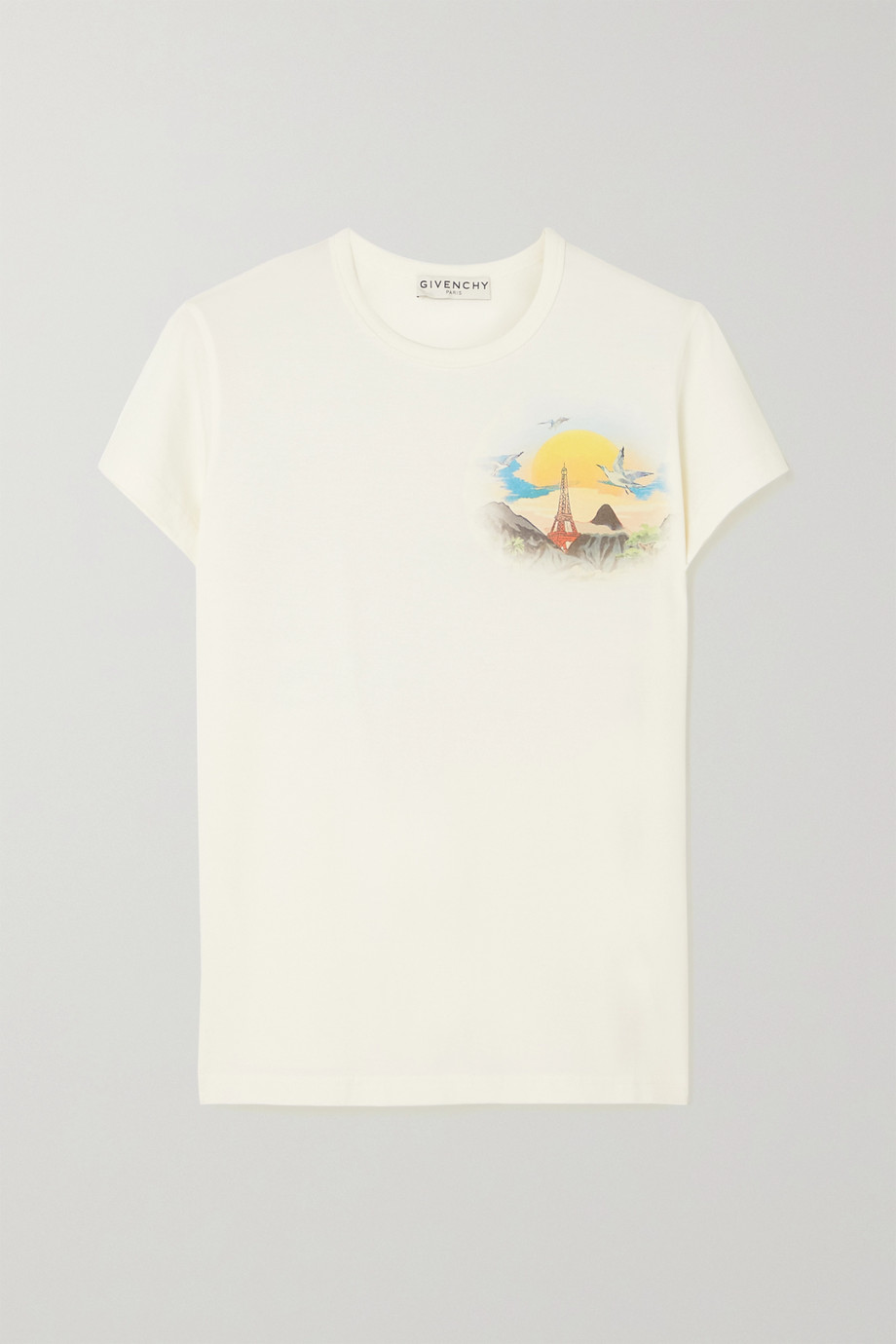 Givenchy Island printed cotton-jersey T-shirt