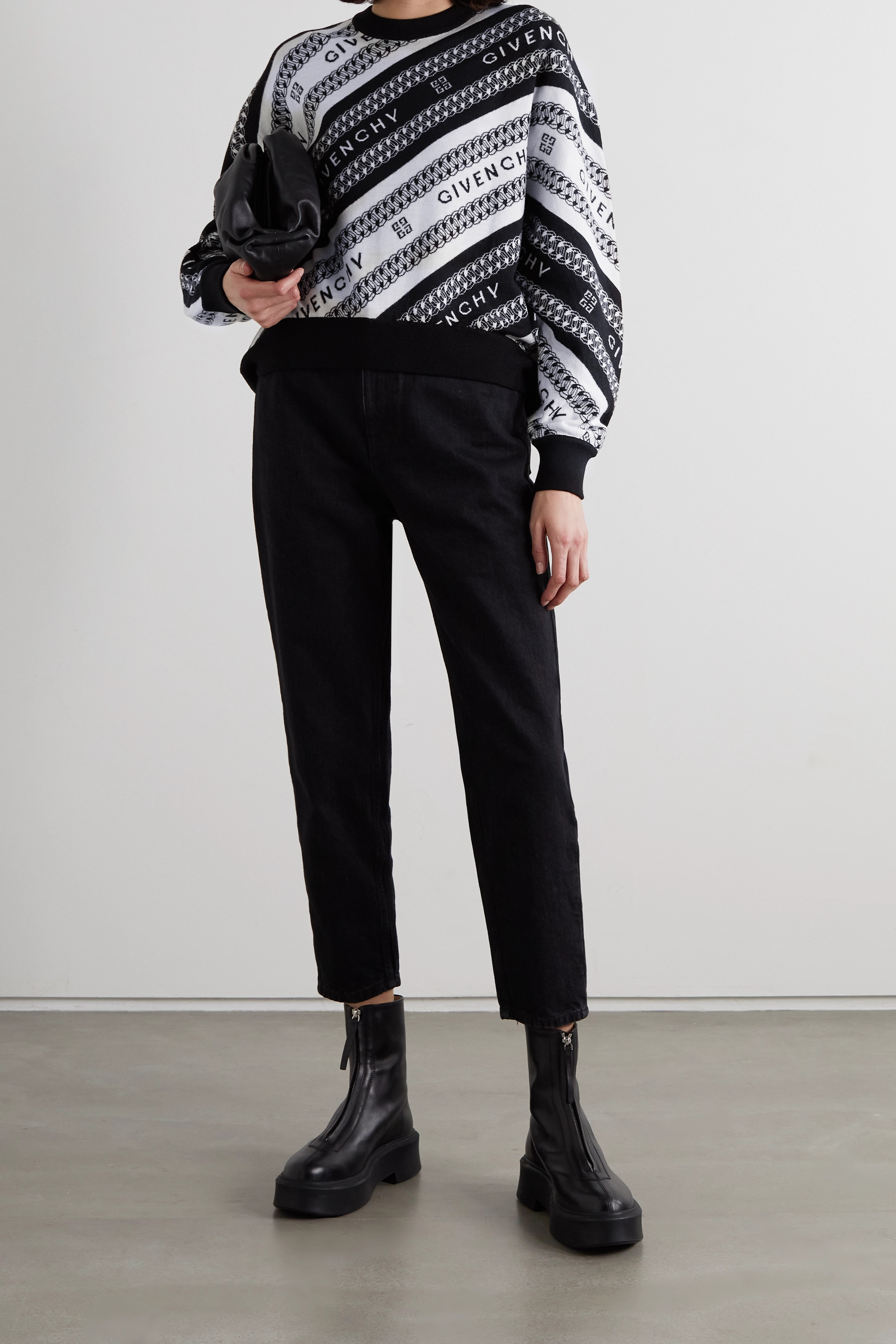 Givenchy Wollpullover mit Intarsienmuster