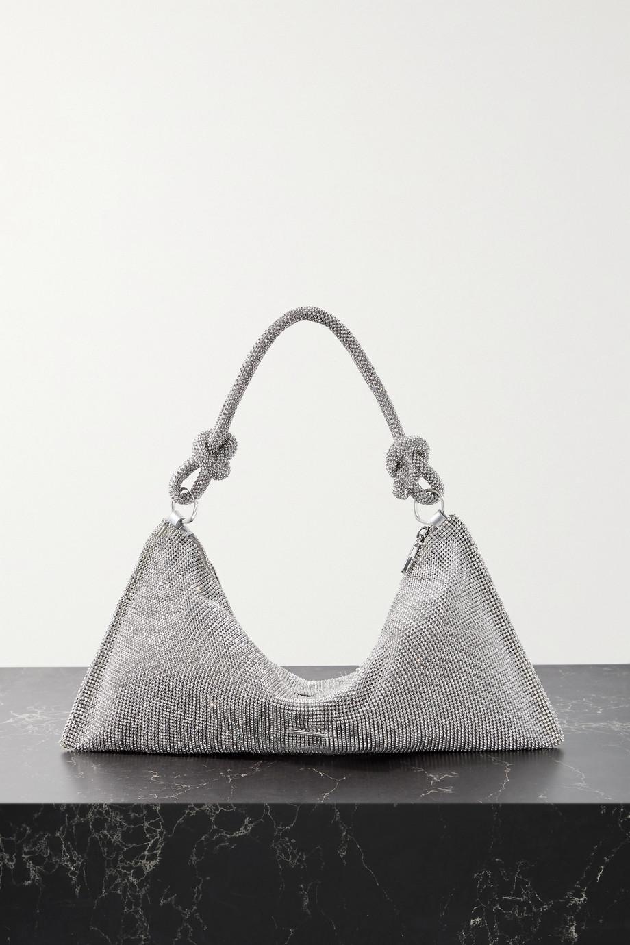 Cult Gaia Hera mini crystal-embellished satin shoulder bag