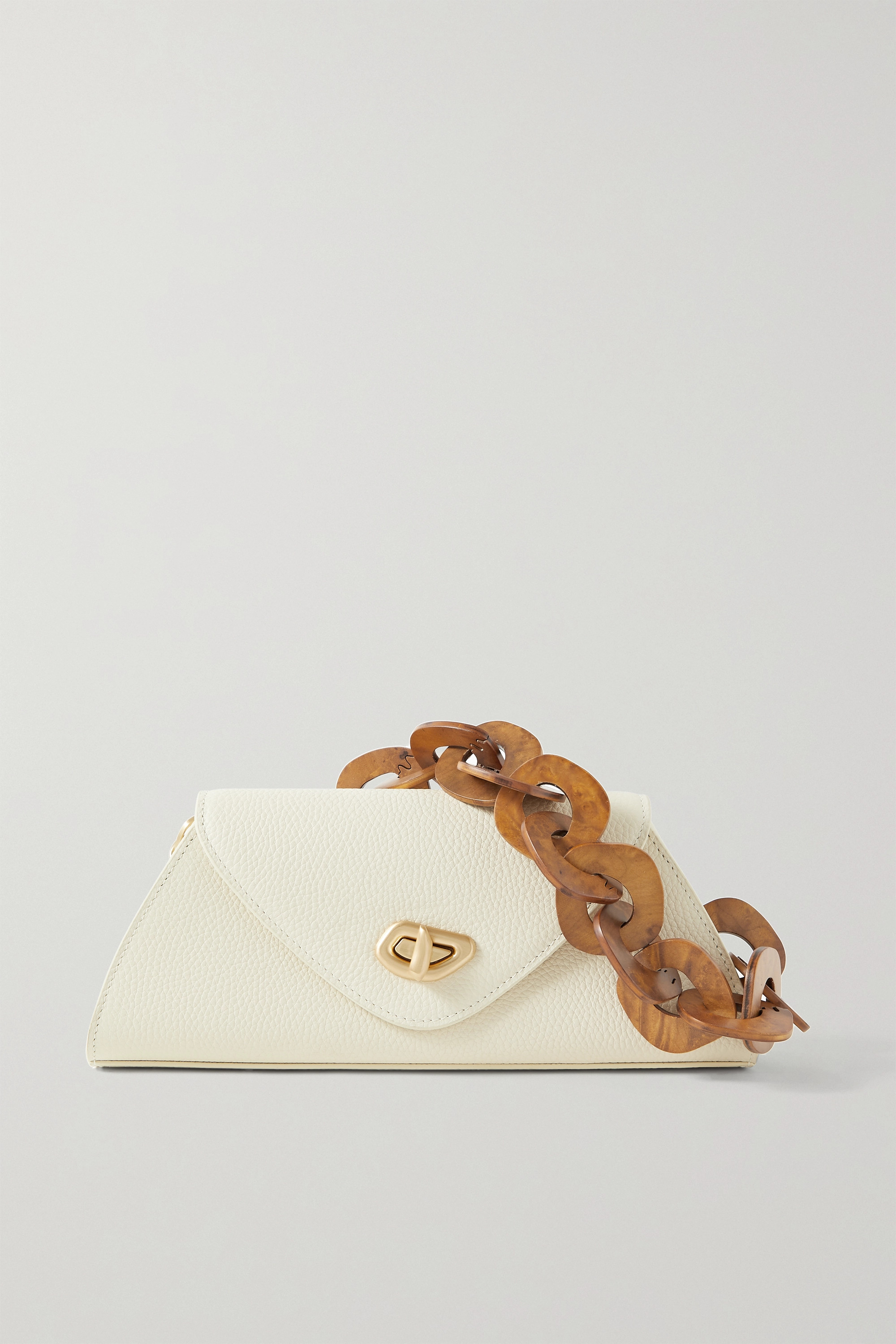 Cult Gaia Serena embellished textured-leather shoulder bag