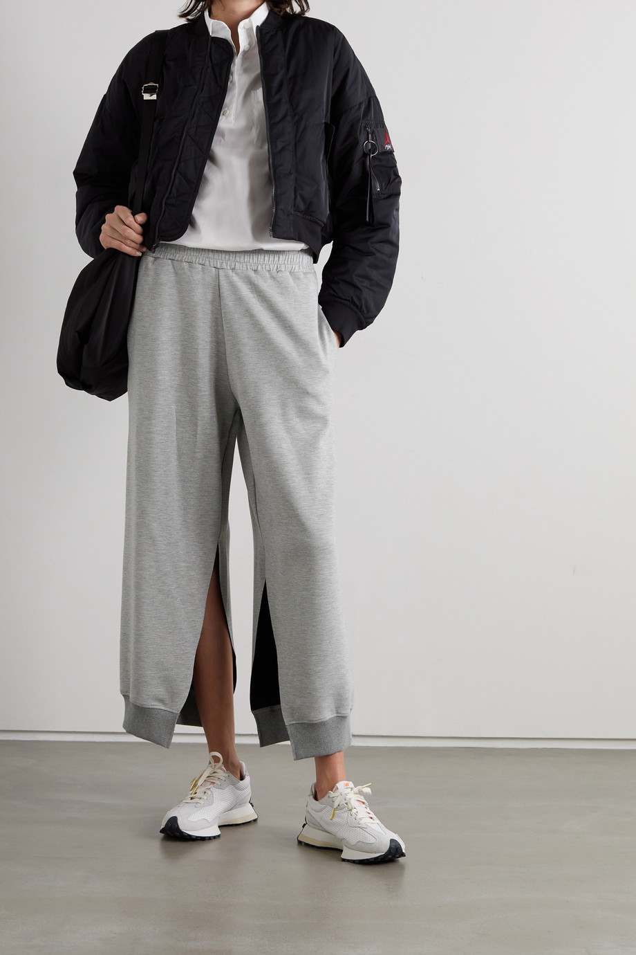 MM6 Maison Margiela Pantalon de survêtement en jersey chiné