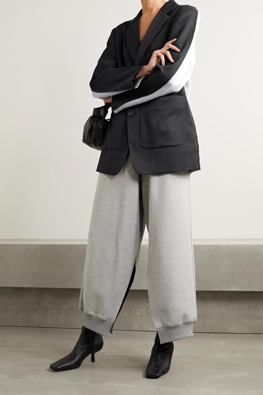 MM6 Maison Margiela Blazer aus Twill und meliertem Jersey aus einer Baumwollmischung