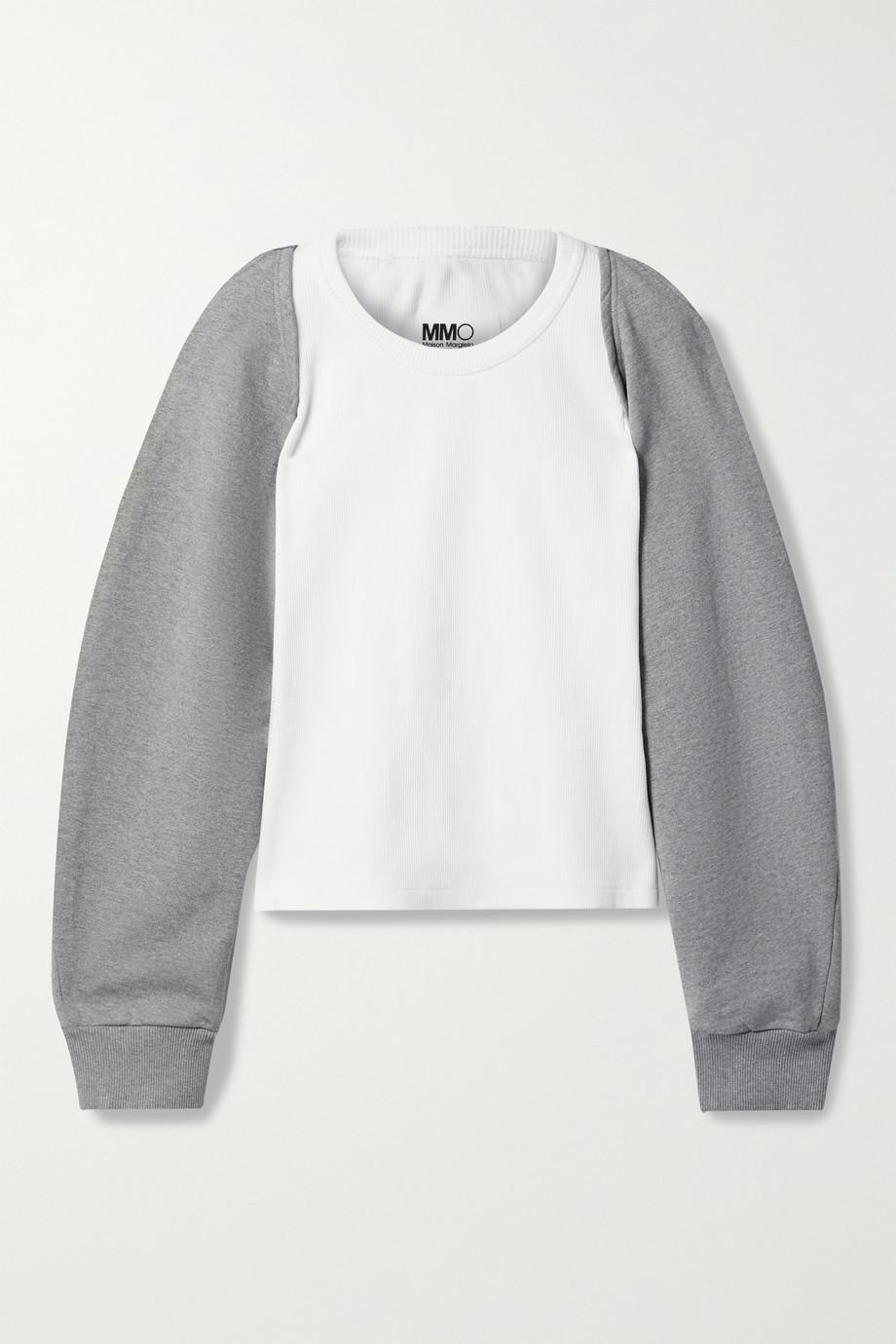 MM6 Maison Margiela Convertible cotton-blend sweatshirt