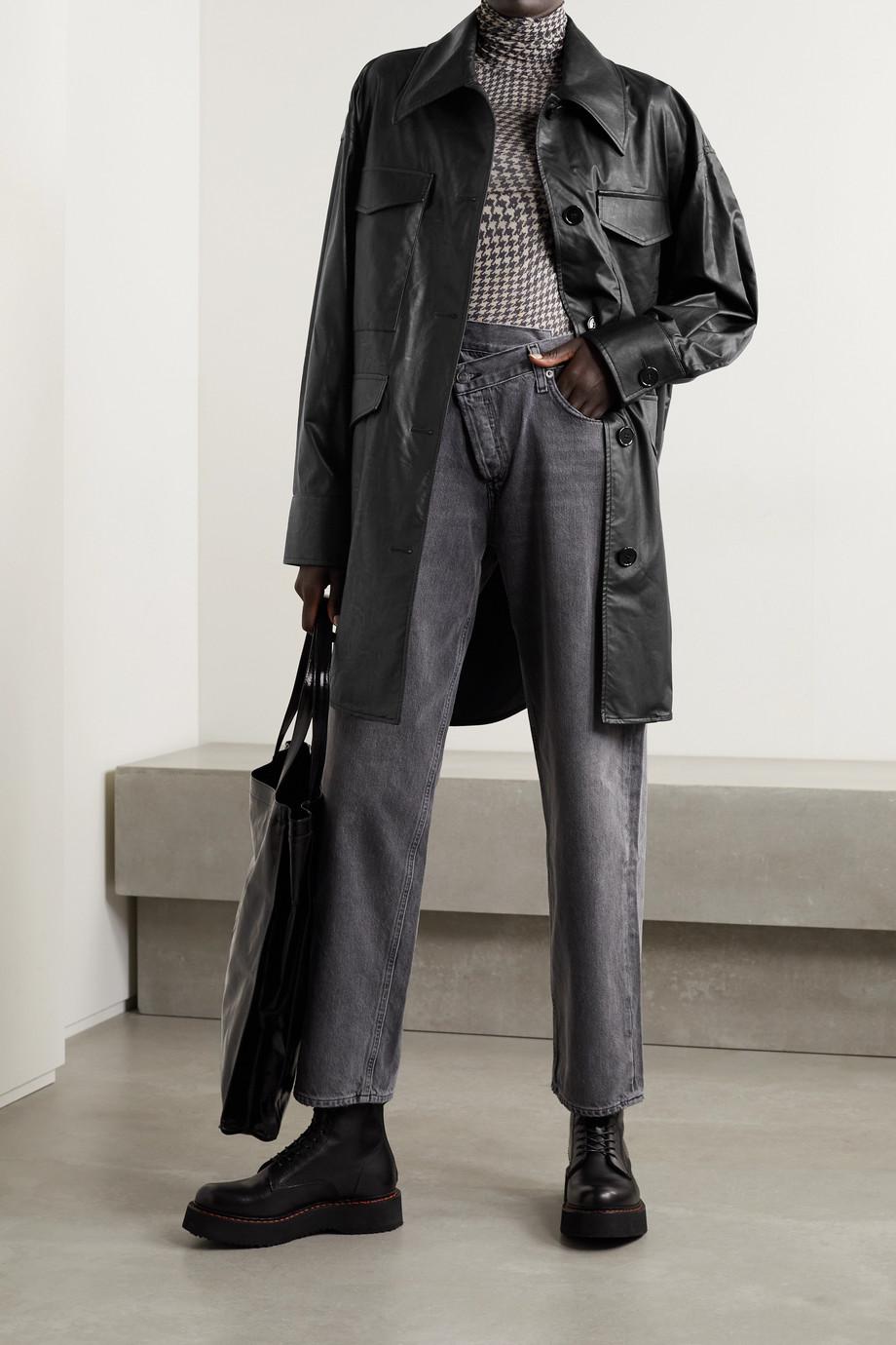 MM6 Maison Margiela Oversized faux leather jacket
