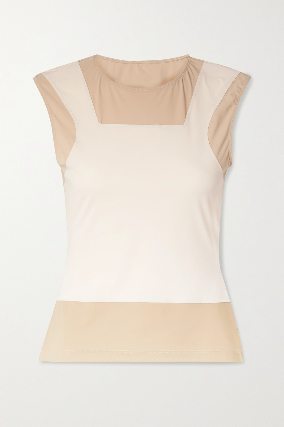 MM6 Maison Margiela Trompe-l'œil color-block stretch-jersey top