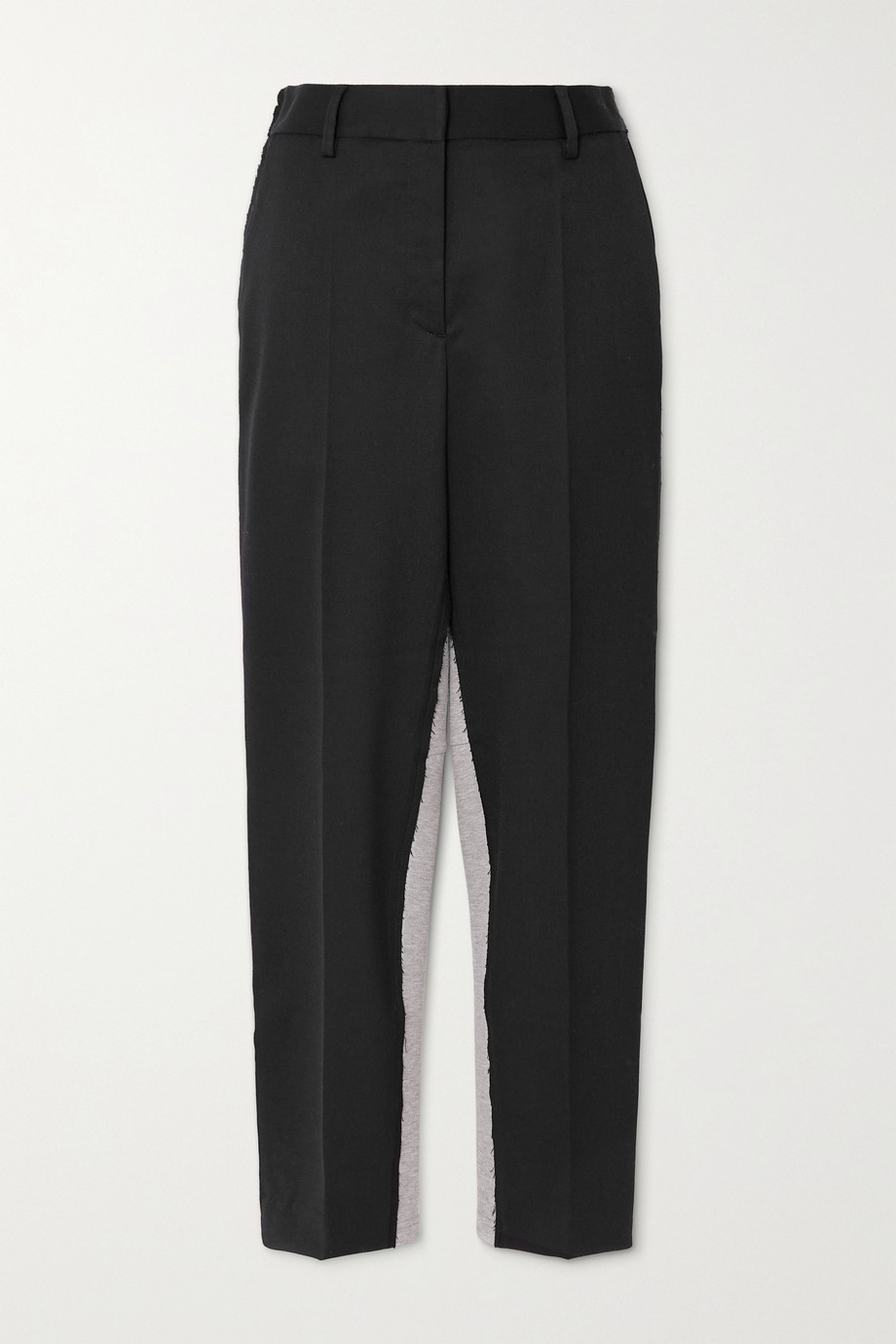 MM6 Maison Margiela Twill and cotton-blend jersey tapered pants