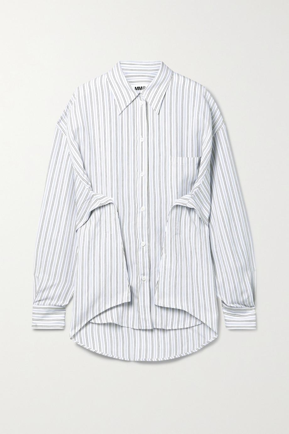 MM6 Maison Margiela 细条纹府绸衬衫