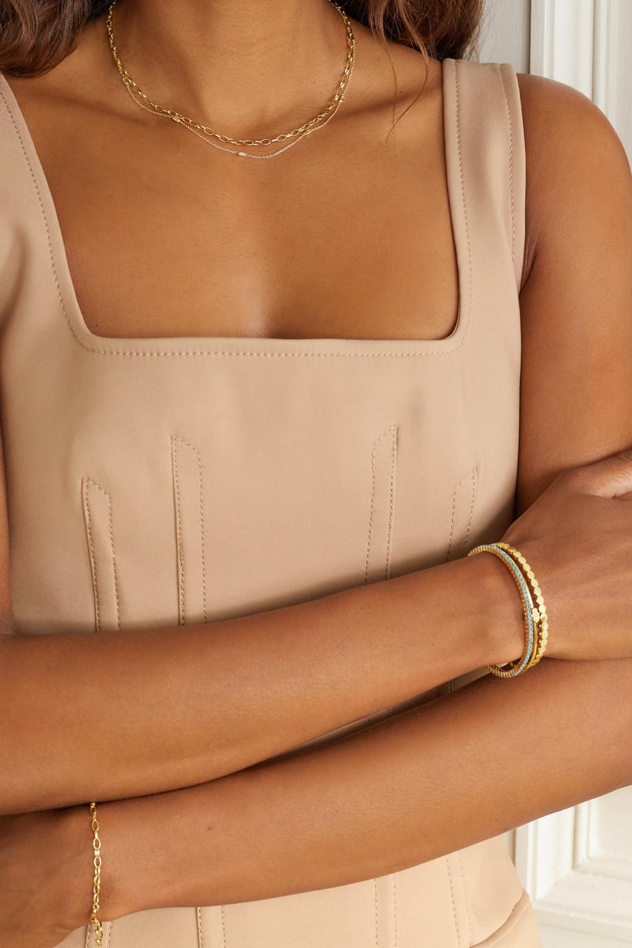 Jennifer Meyer Edith small 18-karat gold necklace