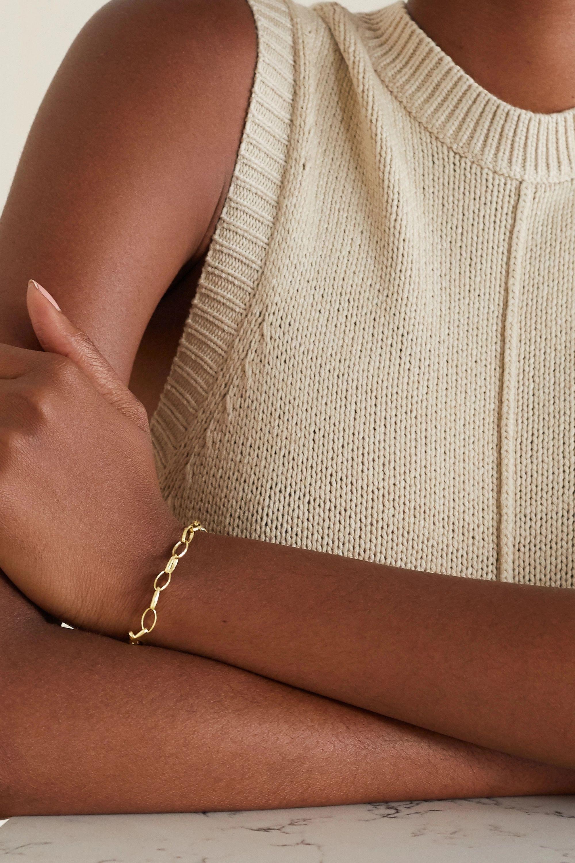 Jennifer Meyer Bracelet en or 18 carats Medium Edith