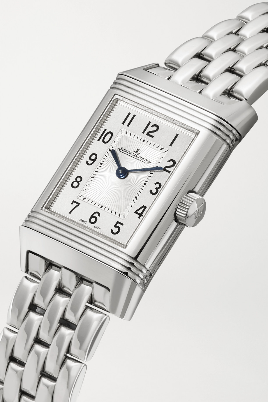Jaeger-LeCoultre Reverso Classic Duetto small hand-wound stainless steel and diamond watch
