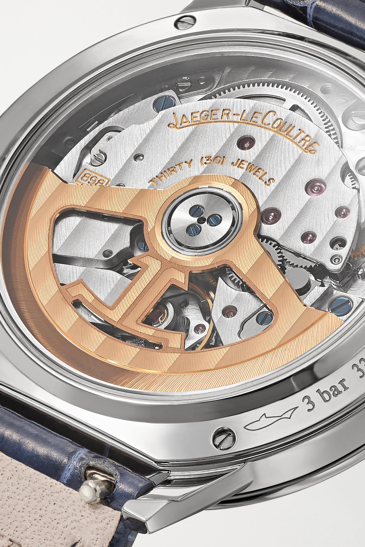 Jaeger-LeCoultre Montre en acier inoxydable et diamants à bracelet en alligator Rendez-Vous Night & Day Medium Automatic 34 mm