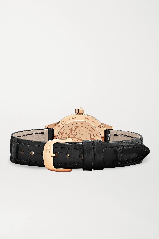 Jaeger-LeCoultre Montre en or rose 18 carats et diamants à bracelet en alligator Rendez-Vous Date Small Montre en or rose 18 carats et diamants à bracelet en alligator Rendez-Vous Date Small 29 mm