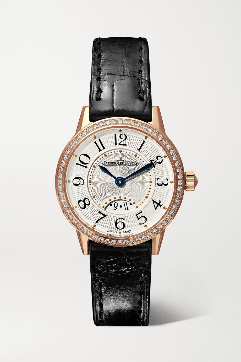 Jaeger-LeCoultre Rendez-Vous Date small 29mm 18-karat rose gold, alligator and diamond watch