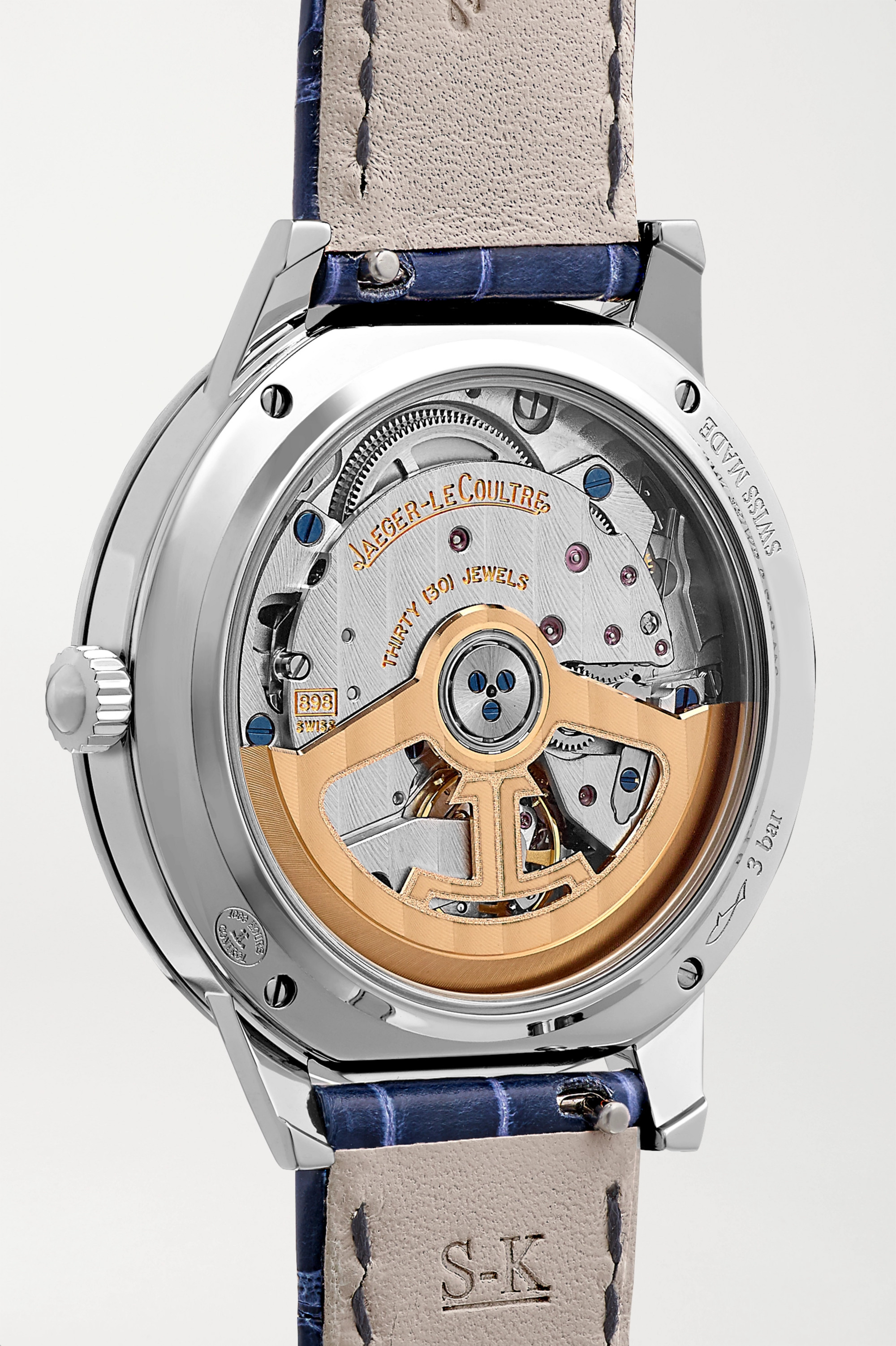 Jaeger-LeCoultre Rendez-Vous Night & Day Automatic 34mm stainless steel, alligator and diamond watch
