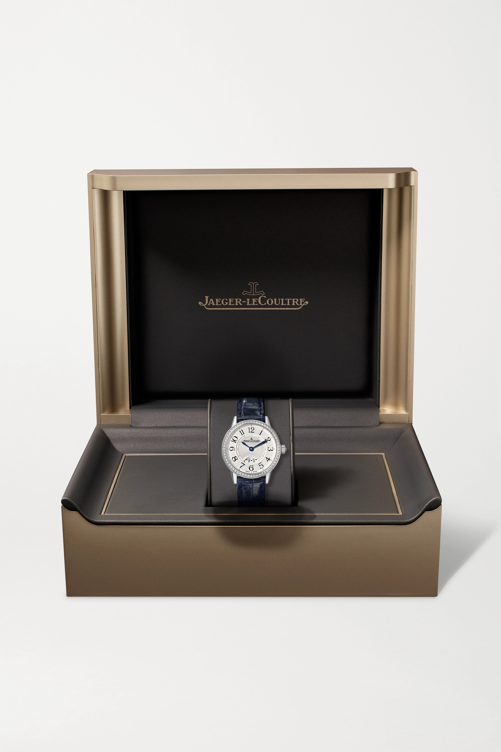 Jaeger-LeCoultre Rendez-Vous Date small 29mm stainless steel, alligator and diamond watch