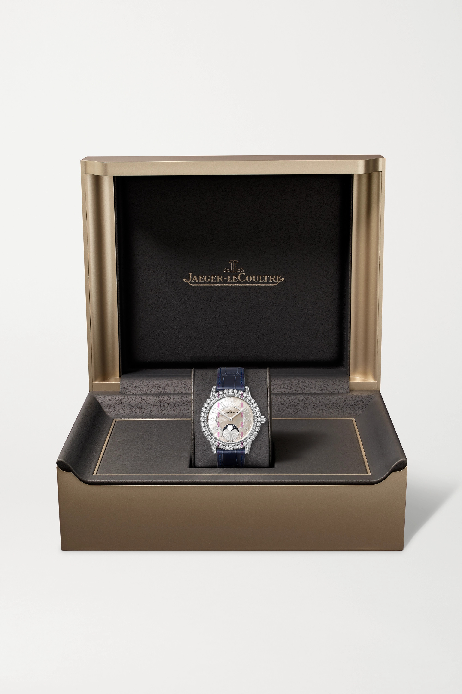Jaeger-LeCoultre Dazzling Rendez-Vous Moon Automatic 36 mm Uhr aus Weißgold mit Diamanten und Alligatorlederarmband